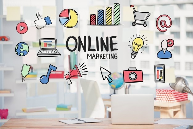 Web design-marketing-online-strategy-with-drawings_